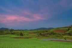Ackerland Hanzhong Shanxi China Lizenzfreie Stockbilder