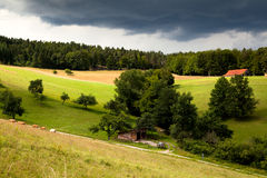 Ackerland im Bayern Stockbilder
