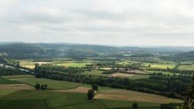Ackerland im Dordogne Stockfotografie