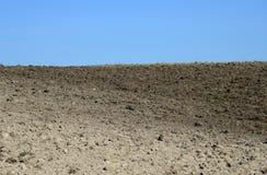 Ackerland im Vorfrühling Stockfoto