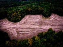 Ackerland im Wald Stockbilder