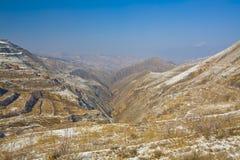 Ackerland im Winter China Stockbild