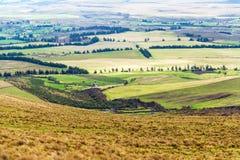 Ackerland-Landschaft in Ecuador Stockfoto