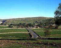 Ackerland, Malham, Yorkshire-Täler. Stockfoto