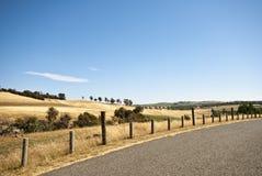 Ackerland nahe Corra Lyn, Tasmanien, Australien Lizenzfreie Stockbilder