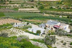 Ackerland nahe Mdina, Malta Stockfotos