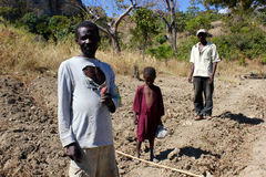 Ackerland nahe Mirebalais, Haiti Lizenzfreie Stockfotografie
