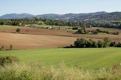 Ackerland Perugia Lizenzfreie Stockfotos