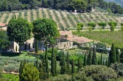 Ackerland, Provence, Frankreich Stockfoto