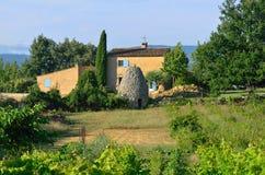 Ackerland, Provence, Frankreich Lizenzfreie Stockfotografie