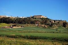 Ackerland, Carmona, Andalusien. Lizenzfreie Stockfotos