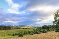 Ackerland in Schottland Stockfotos