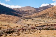 Ackerland in Shangri-La Stockfoto