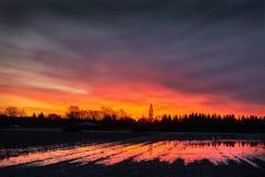 Ackerland-Sonnenaufgang Lizenzfreie Stockfotografie