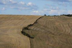 Ackerland in Toskana Stockbild