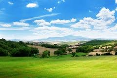 Ackerland in Toskana Lizenzfreies Stockbild