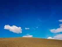 Ackerland in Toskana, Italien Stockfoto