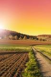 Ackerland und Weiden in der Schweiz Lizenzfreies Stockfoto