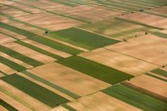 Ackerland in Voijvodina fotografierte von der Luft Lizenzfreies Stockbild