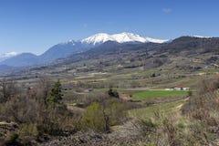 Ackerland von einer Höhe Griechenland, Peloponnes stockfotos