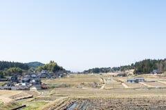 Ackerland von Japan und von ihrem Landwirthaus Stockbilder