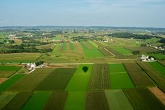 Ackerland von oben Lizenzfreies Stockbild
