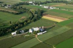 Ackerland von oben Stockfotos