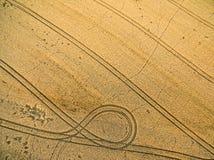 Ackerland von oben genanntem - Luftbild Stockbild
