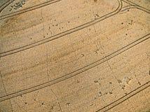 Ackerland von oben genanntem - Luftbild Lizenzfreie Stockfotos