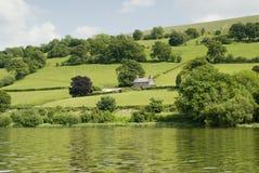 Ackerland in Wales Lizenzfreie Stockbilder