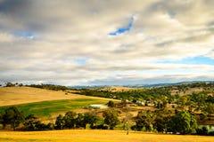 Ackerland in Yankalilla, Süd-Australien Stockfoto
