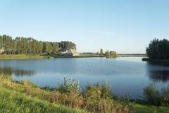 Ackerlandansicht in die Niederlande Stockbild