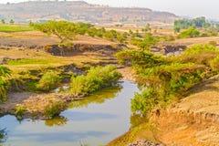 Ackerlandlandschaft in Äthiopien Lizenzfreies Stockfoto