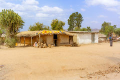 Ackerlandlandschaft in Äthiopien Stockfotografie