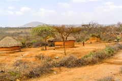 Ackerlandlandschaft in Äthiopien Lizenzfreie Stockbilder