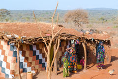 Ackerlandlandschaft in Äthiopien Stockfoto