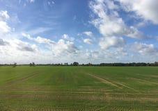 Ackerlandlandschaft in Lettland Lizenzfreie Stockfotos