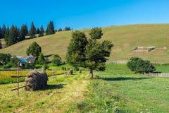 Ackerlandlandschaft in Rumänien Lizenzfreies Stockfoto