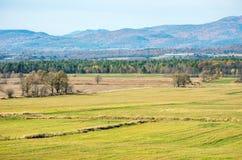 Ackerlandweiden in Vermont Lizenzfreie Stockfotos