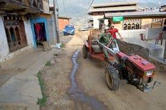 Ackerschlepper, Sopsokha, Bhutan Stockfotografie