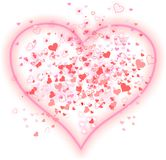 Вackground of pink hearts Royalty Free Stock Images
