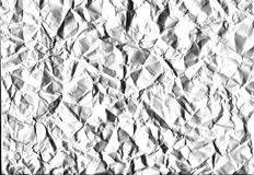Вackground white crumpled paper, high image quality Royalty Free Stock Image