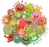 Ackumulationen av bakterier Royaltyfri Bild