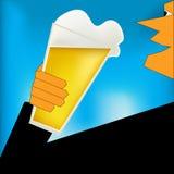 Aclamaciones, cartel de Stle del art déco de la cerveza stock de ilustración