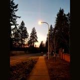 Aclaración de la puesta del sol foto de archivo