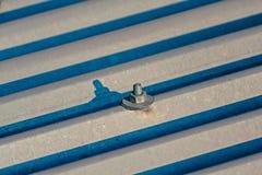 ACM, Asbest-Dach-Platten Stockfoto