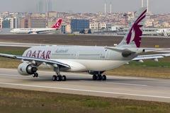 A7-ACM Qatar Airways Airbus A330 Royalty Free Stock Photo