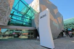 ACMI Federation Square Melbourne Australia. ACMI Australian Centre for the Moving Image Federation Square Melbourne Australia stock photography