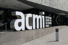 ACMI Federation Square Melbourne royalty free stock images