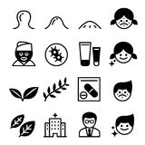 Acne icons Royalty Free Stock Image